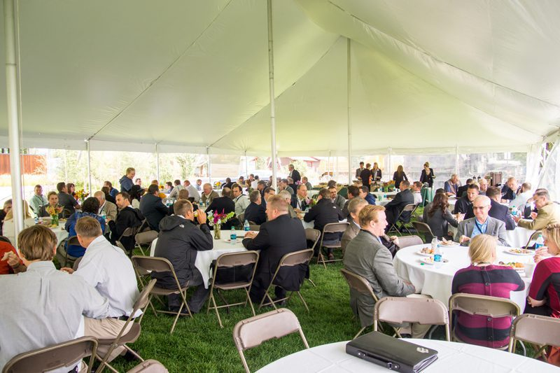An outdoor break at the Rocky Mountain Energy and Infrastructure Summit