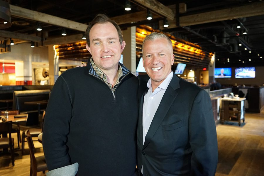 Brian Sullivan (left) at the Bakken with Marcus Jundt, Chairman & CEO of Williston Holding Company (Photo Credit: Brad Quick / CNBC)