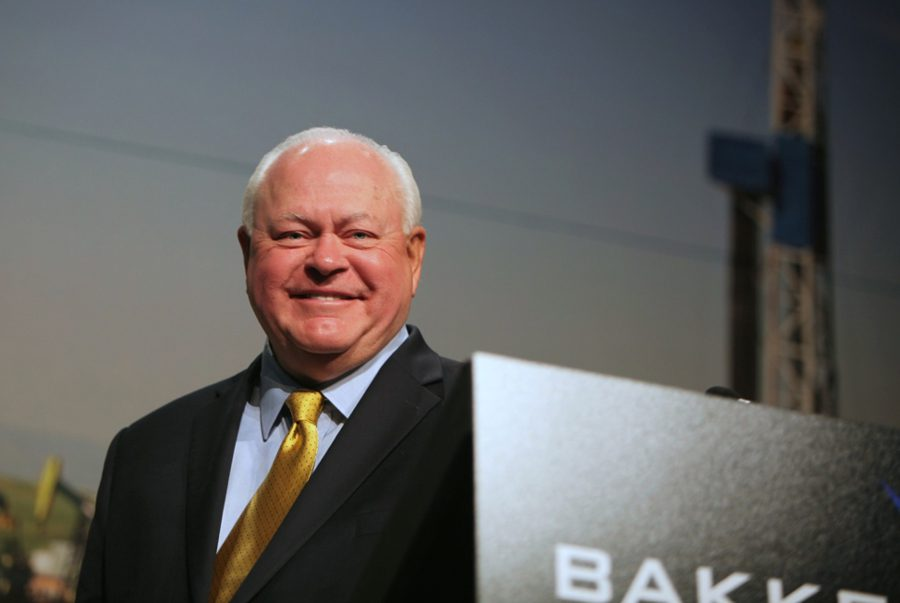 James Volker, CEO, Whiting Petroleum, explains why their company is heavily invested in the Bakken shale play at the Williston Basin Petroleum Conference.