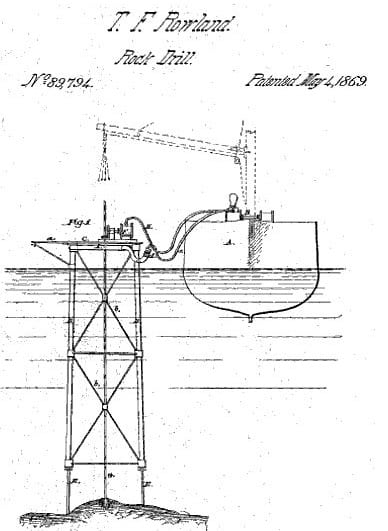 First Offshore Drilling Platform By Thomas Rowland, May 4, 1869