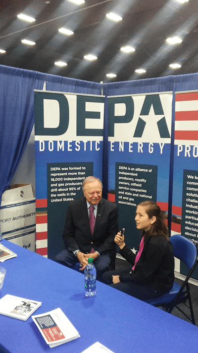 Otis interviewing Harold Hamm, Chairman and CEO, Continental Resources