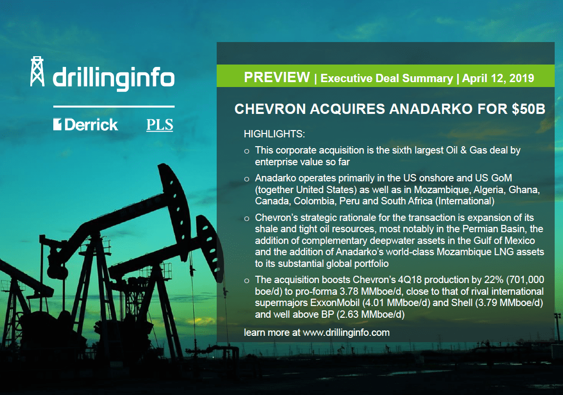 Making Dollars & Cents of Chevron's $50 Billion Acquisition of Anadarko