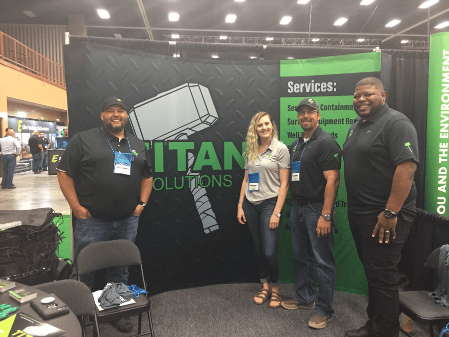 Team members from Titan Solutions