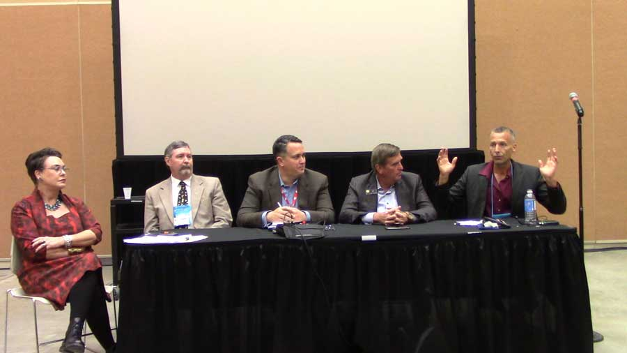 Panel discussion on what happened in Colorado: R-L, Jason Spiess, Dan Haley John Cook, John Robitaille, Harriet-Hageman