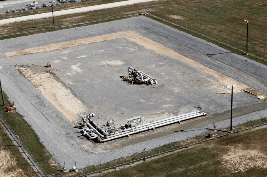 United States Strategic Petroleum Reserve Well Pad Aerial View, West Hackberry, Louisiana Photo courtesy of Energy.gov