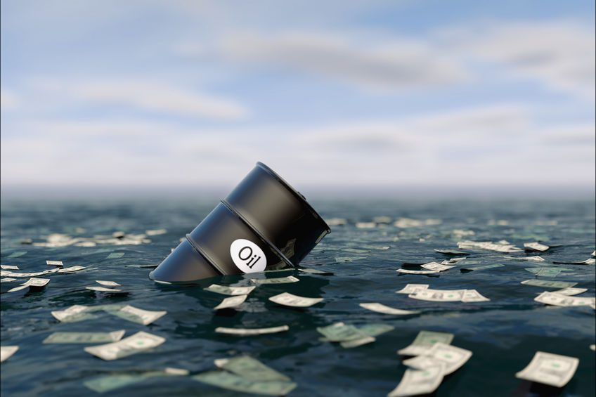 Oil price crashes to record low
