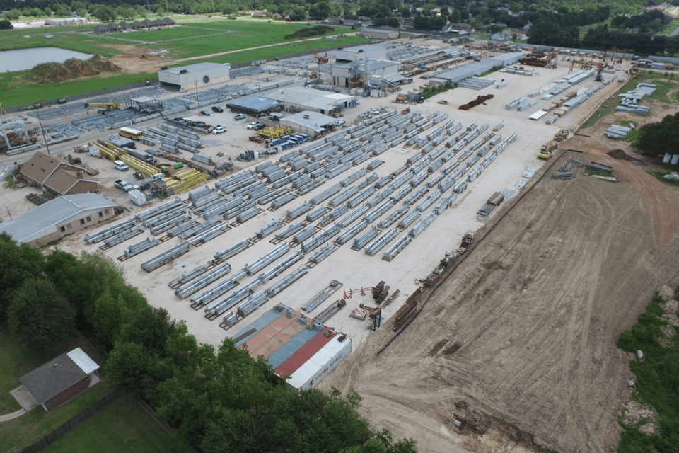 Alfred Miller Yard, Lake Charles, LA - Photo courtesy of Alfred Miller Contracting