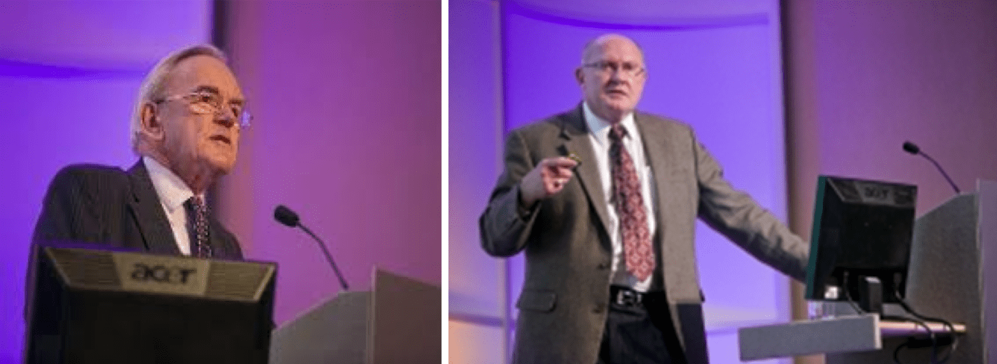 The Honorable Lord Cullen (L) and David M. Pritchard (R). March 5, 2014, SPE, Aberdeen, Scotland