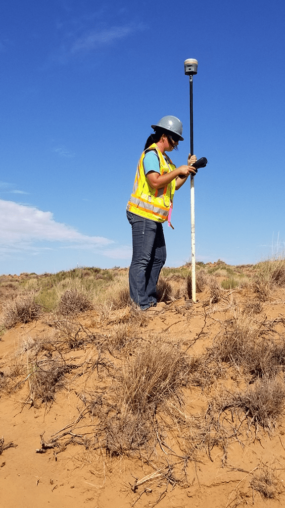 Crews regularly need to route pipelines around private property, archeological sites, protected habitats, utilities, and waterways. Photos courtesy of Topographic Land Surveyors, Inc.