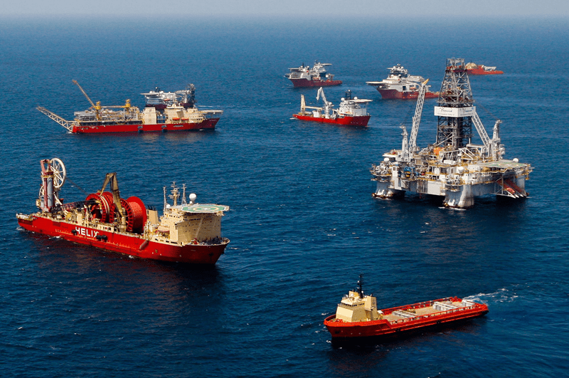 Offshore operation facilities. Photo courtesy of Bloomberg