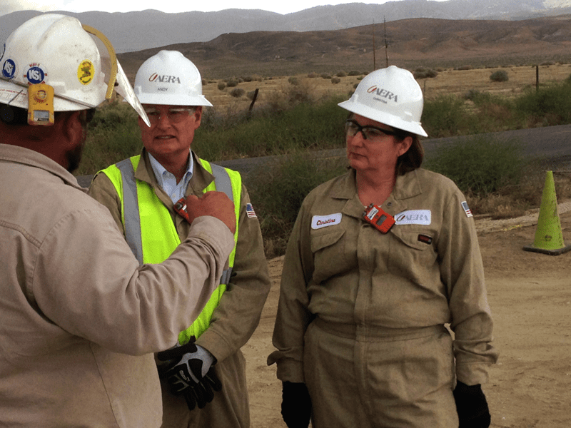 Sistrunk and Aera SVP of Operations Andy Anderson tour Belridge oil field. Photo courtesy of Aera Energy, LLC
