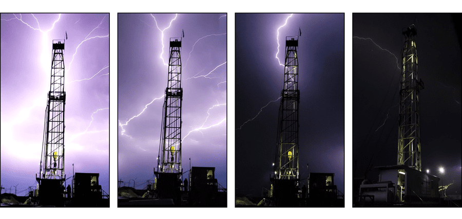 Lightning Strikes in the Permian