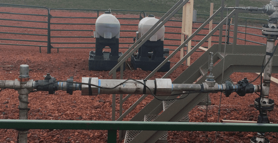 This challenging installation in the southern flank of the Williston Basin was using 10.5 qt/day of emulsion breaker to treat 18 gravity tight emulsion at 55˚F Red River crude. It produces 220 barrels of fluid daily at a 60-40 oil/water ration. Over a five-year period, several chemical providers tried repeatedly to find a more effective and economical mix. Within 90 days of installing the inline mixer, chemical usage was reduced to 4.5 qt/day, saving the producer ,147 per year in chemical costs.