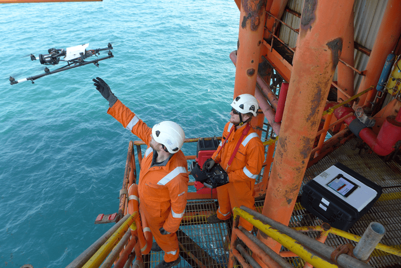 Cyberhawk inspections teams include an experienced drone pilot and an industry-qualified engineer.