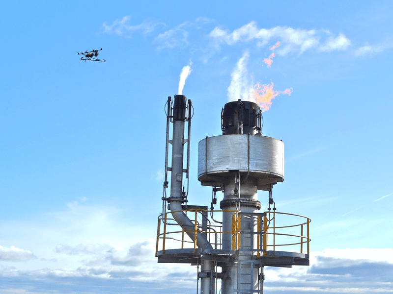 Flares are just one area in which drones are replacing traditional methods of inspection.