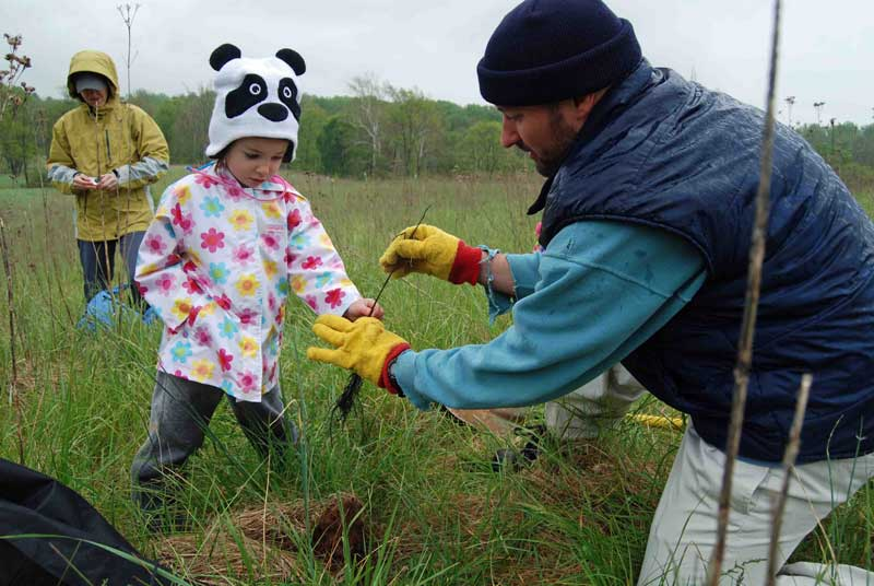 Earth Day Girl Scout Tree Planting.