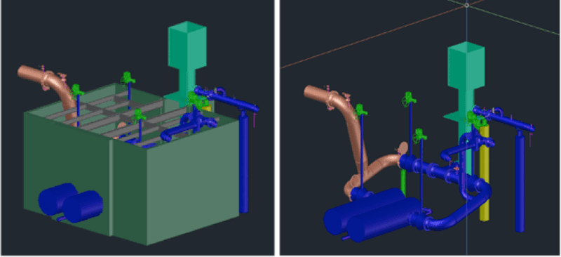 Finished 3D model of the vault developed from SX10 scanning data.