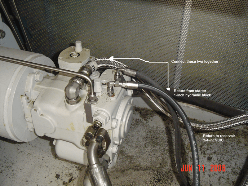 Using customer pictures and P&ID's, Gly-Tech determines flow path and then decides how to alter piping and hoses to correctly circulate through to accomplish a clean lube oil system.