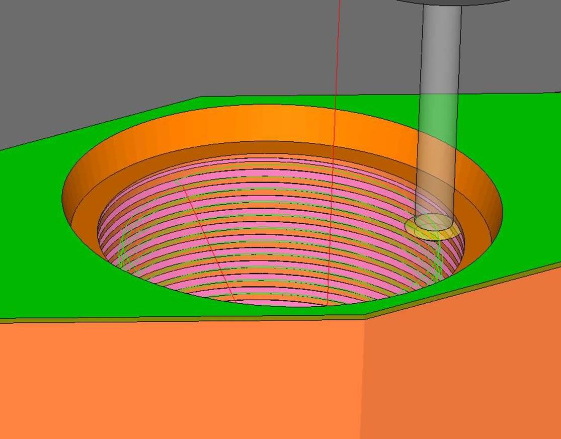 Cleveland Machine recently took on an R&D project that required a large female thread. ESPRIT picked up the thread size based on the ID of the hole and, after slight alterations, the CAM software created the program in minutes.