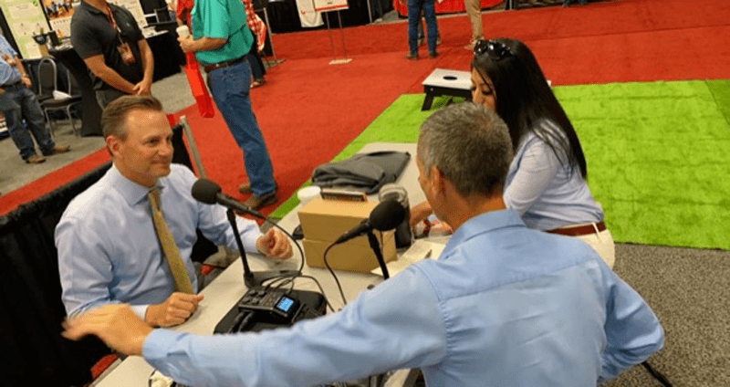 Midland, Texas, Mayor Patrick Payton interviewed by Jason Spiess and Maira Vargas at the Shale Energy Resources Tradeshow and Conference in Midland, Texas.
